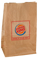 Block bottom SOS Paper Bags for Fast Food